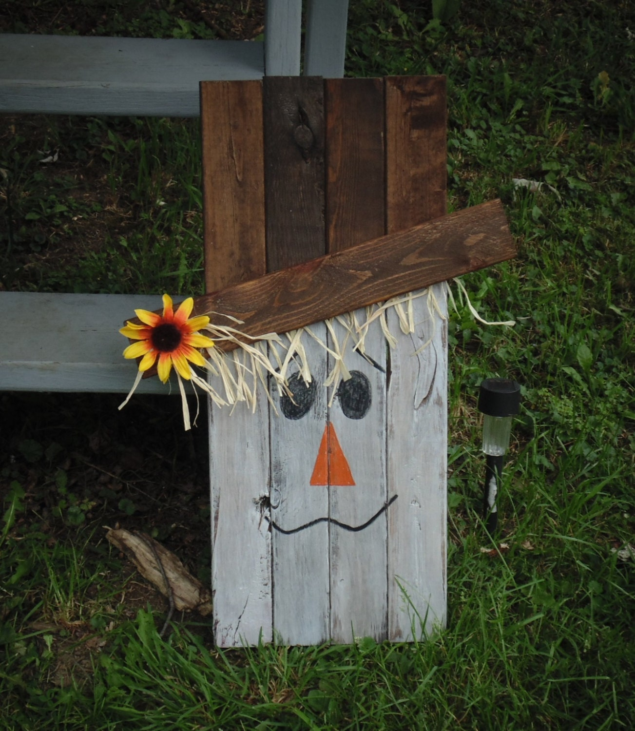 Scarecrow Crafted From Reclaimed Wood Rustic Primitive Country