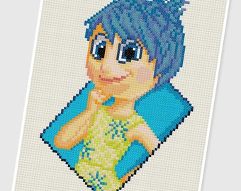 PDF Cross Stitch pattern - 0034.Joy ( Inside Out ) - INSTANT DOWNLOAD
