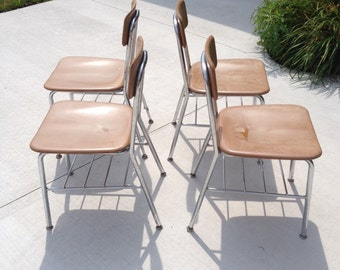 SALE 4 Mid-Century Heywood Wakefield Chrome Resin Chairs