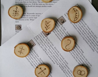 Witches runes / wooden witches runes