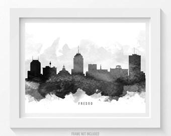 Fresno California Skyline Poster, Fresno Cityscape, Fresno Art, Fresno Decor,  Home Decor, Gift Idea 11