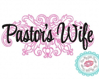 Pastor's Wife Damask  Machine Embroidery Design