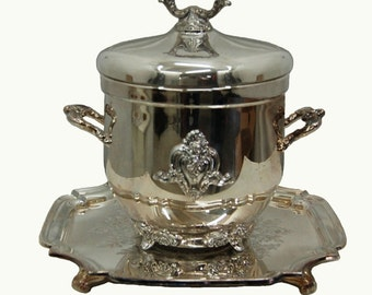 7764A Classical Silver Plate Footed Wine Cooler/Ice Bucket