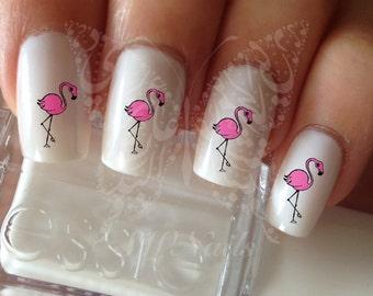Flamingo Nail Art Nail Water Decals Transfers Wraps