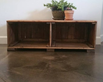Rustic TV Stand // Storage Shelf