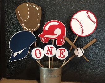 BASEBALL CENTERPIECE,sports centerpiece, baseball party, baseball party decor