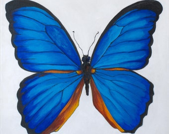 Blue Butterfly, Painting for Kids Room