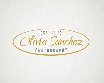 Photography Logo & Watermark - Premade logo design - Pre-made business logo - Photography Logo