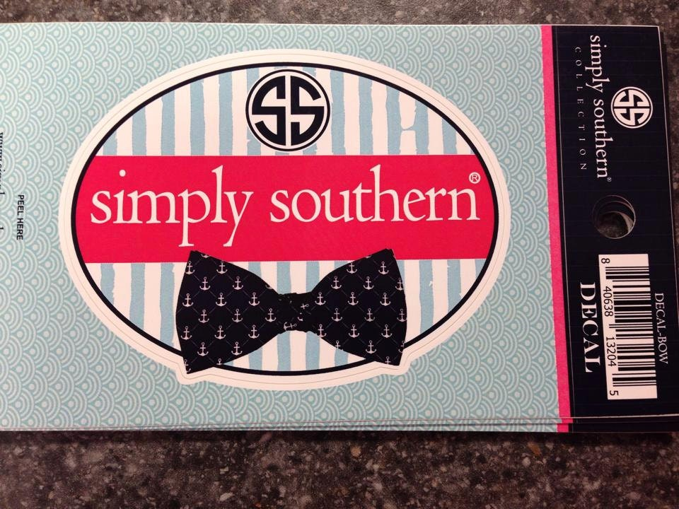 Simply Southern Bowtie Decal Closeout By WoosTooBoutique