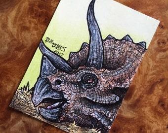 Jurassic Park Sick Triceratops Sketch Card