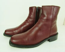Vintage J. Crew Italian Made Brown Leather Classic Ankle Boots Woman's 7