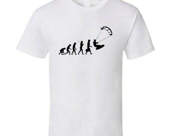 Kite Surfing Evolution T Shirt