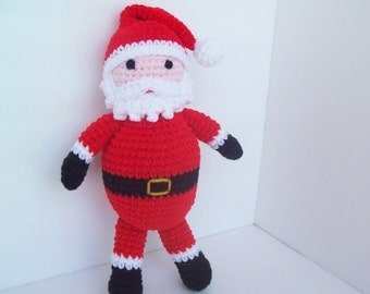 Santa Claus crocheted and stuffed toy.  Decoration.