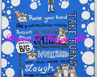 Wildcat Class Rules Poster