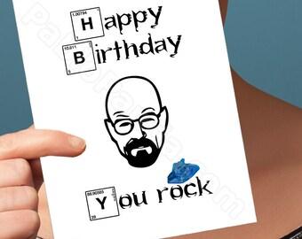 funny birthday card. breaking bad card. walter white. heisenber birthday card. girlfriend birthday. boyfriend brithday. card for boyfriend.