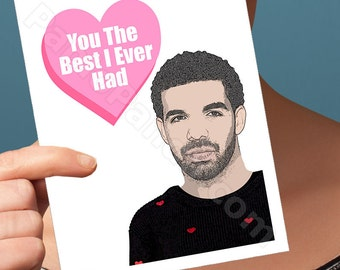 drake card. funny anniversary card girlfriend. funny birthday card boyfriend. I love you card. bday card pop culture 21st 20th 30th gift ovo