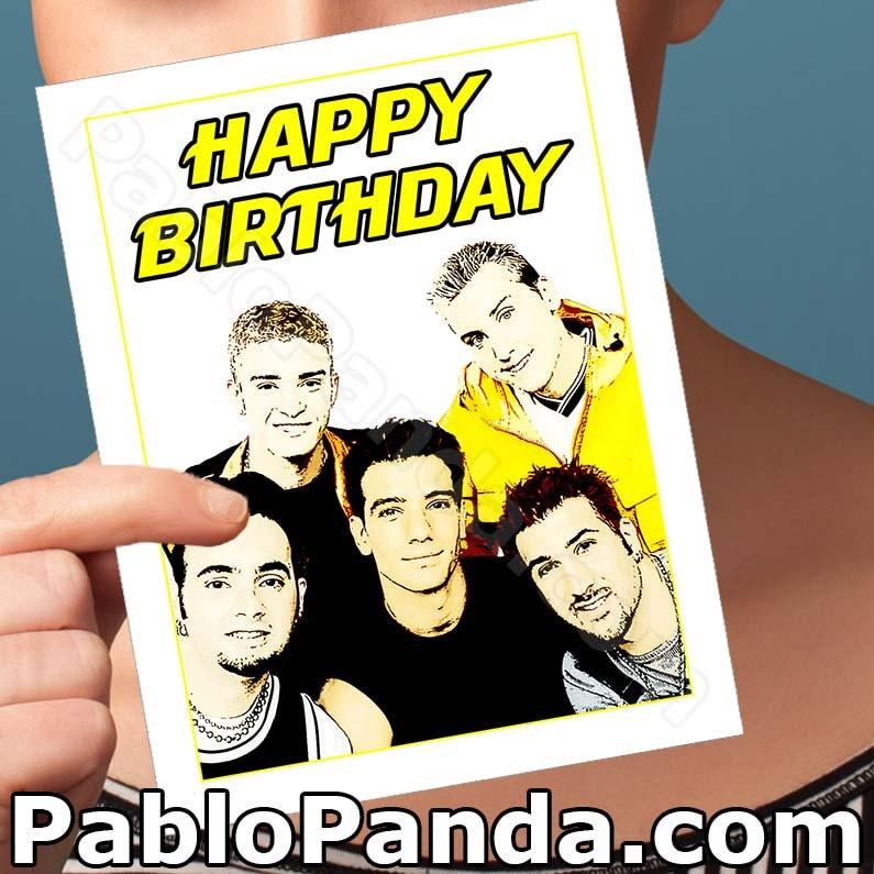 Funny Birthday Card NSYNC Card Justin Timberlake JC Chasez