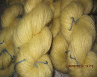 Icelandic pure wool, hand dyed with Trifolium pratense, 05082015-2