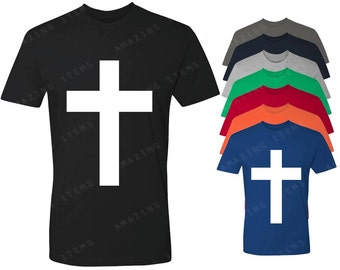 White Cross T-shirt Christian  Shirts