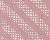 Cotton + Steel Basics, Dottie in Rosewater Mauve,  Diagonal Stripes with Dots