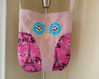 Pretty pink bag Owl