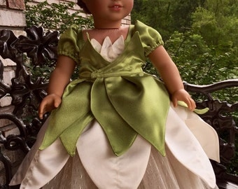 """Tiana gown from princess and the frog for the 18"""" doll clothes"""