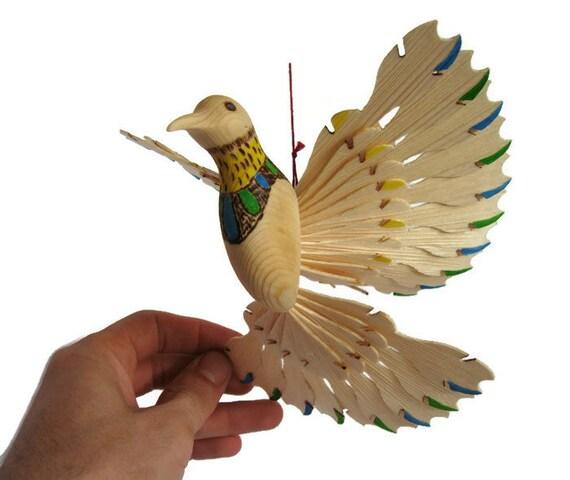 art de la sculpture sur bois mobile oiseau pendaison de. Black Bedroom Furniture Sets. Home Design Ideas