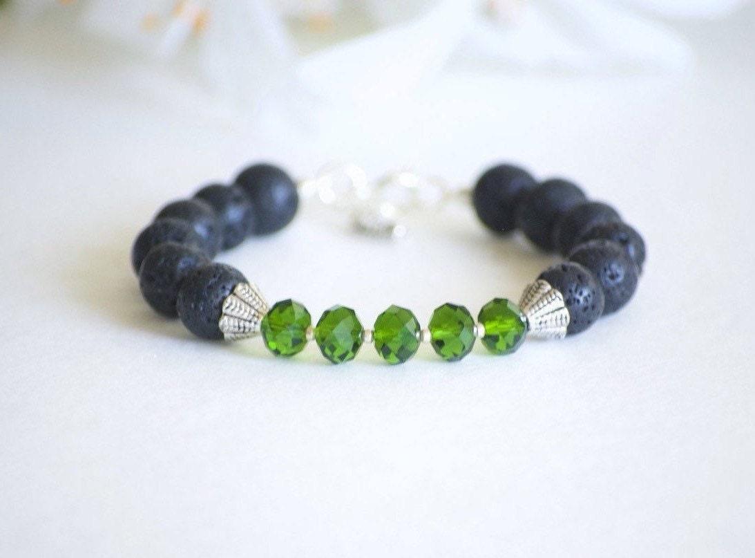 lava bead bracelet lava rock bracelet boho bracelet