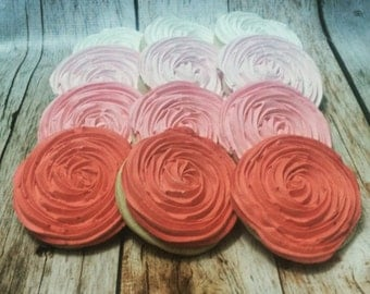 Ombre Rose Cookies