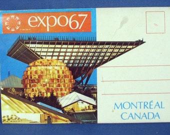 Vintage Expo 67 Souvenir Postcard Folder - Montreal Canada