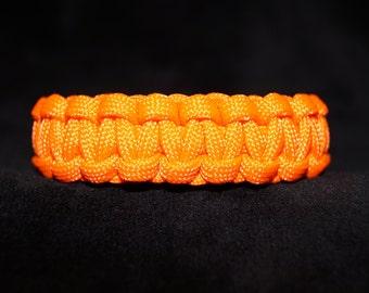 Paracord Bracelet Color is Neon Orange