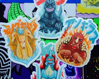Godzilla Sticker Set