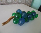 Vintage 1960s Acrylic Blue and Green Grapes For Your Retro Den