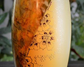 Henna Decorated Vase