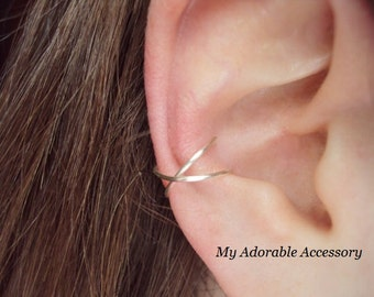 Cross  Large Hoop/Conch Ear Cuff