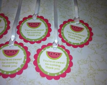 Watermelon favor tags