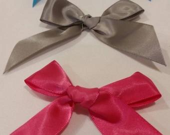 Satin ribbon bows, bows for invitations, bows, premade bows, satin bows, ribbons, ribbon for bows, party favor bows, bows for party favors