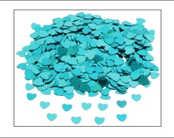 Turquoise Hearts table confetti, weddings, wedding supplies, wedding decorations, table decorations, UK seller