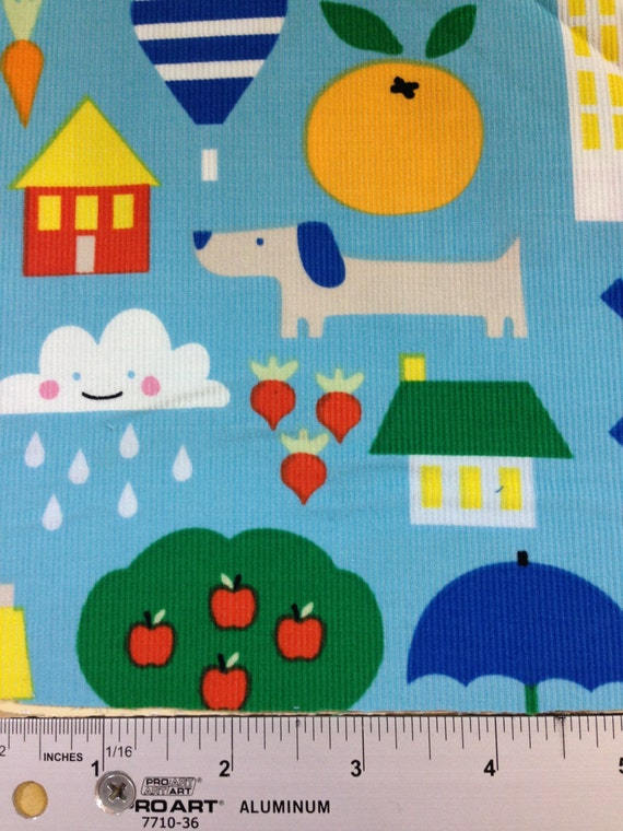 Cloud9 small world corduroy children 39 s kids by sunvalleyfabric for Kids corduroy fabric