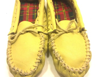 Leather Children Moccasins, Soft Sole Moccasins For Children, Children Size 2