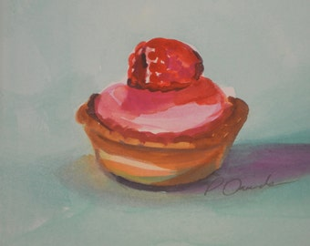 French Pastry Original Watercolor