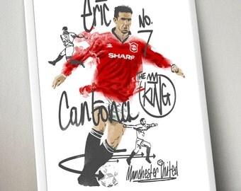 Eric Cantona Football Poster
