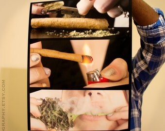 BLUNT GIRL 2 Cannabis Poster