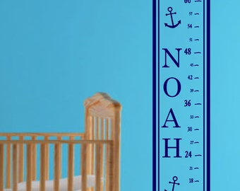 Boys Nautical Growth Chart
