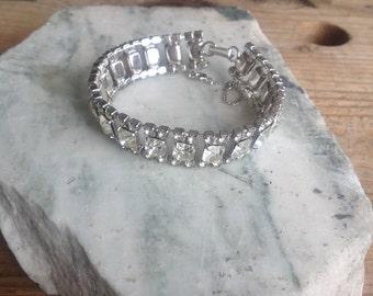 Vintage Silver Sparkle Bracelet