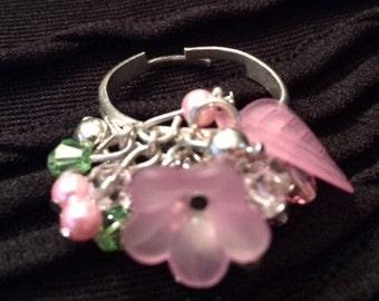 Pink garden ring
