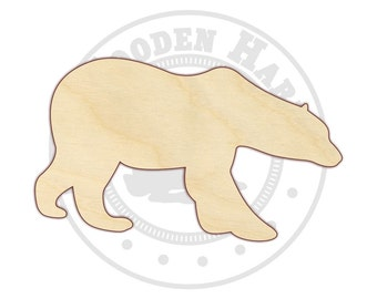Small Polar Bear Wood Cut Out - 170204 - Unfinished wood - Various sizes - Cutout - Sign - Wood Craft Shapes