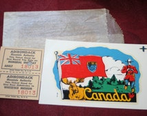 Vintage Canada Sticker and Ticket stubs, Collectible Souvenir