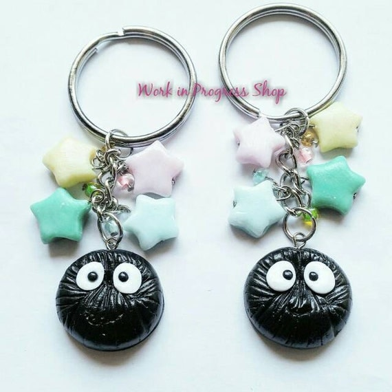 Soot Sprite Keychain - Polymer Clay Accessories