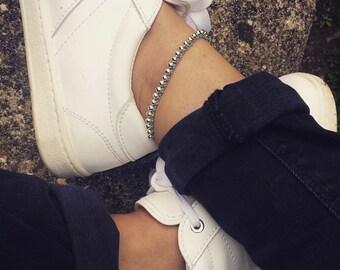 Handmade macrame beaded anklet